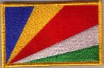 Seychelles Embroidered Flag Patch, style 08.